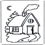 Детские раскраски - Детский домик