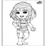 Детские раскраски - Девочка 3