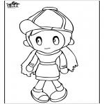 Детские раскраски - Девочка 4