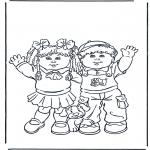 Детские раскраски - Девочка и мальчик