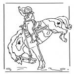 Раскраски с животными - Девочка на лошади 2