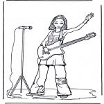 Разнообразные - Девочка с гитарой