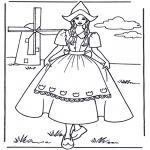 Разнообразные - Девочка у мельницы