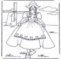 Девочка у мельницы