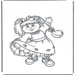 Детские раскраски - Девочка в платьице