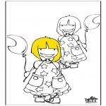 Детские раскраски - девочки 1