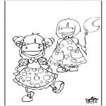 Детские раскраски - девочки 2