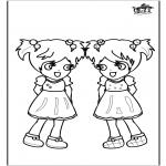 Детские раскраски - девочки 3