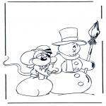 Зимние раскраски - Диддл зима 1