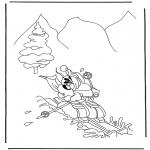 Персонажи комиксов - Диддл зимой