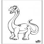 Раскраски с животными - Динозавр 10