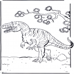 Раскраски с животными - Динозавр 2