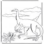 Раскраски с животными - Динозавр 3