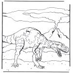 Раскраски с животными - Динозавр 4