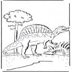 Раскраски с животными - Динозавр 5
