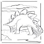 Раскраски с животными - Динозавр 6