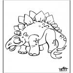 Раскраски с животными - Динозавр 9