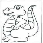 Раскраски с животными - Динозавр