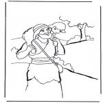 Раскраски по Библии - Добрый пастырь 2
