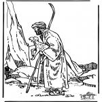 Раскраски по Библии - Добрый пастырь 3