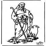 Раскраски по Библии - Добрый пастырь 4