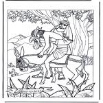 Раскраски по Библии - Добрый Самаритянин 1