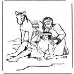 Раскраски по Библии - Добрый Самаритянин 2