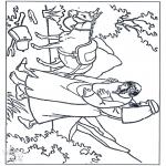 Раскраски по Библии - Добрый Самаритянин 3