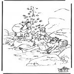 Раскраски по Библии - Добрый Самаритянин 6