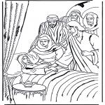 Раскраски по Библии - Дочь Иаира 1