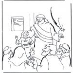 Раскраски по Библии - Дочь Иаира 2