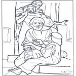 Раскраски по Библии - Дочь Иаира 3