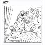 Раскраски по Библии - Дочь Иаира 4