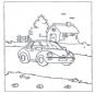 Домик и машина