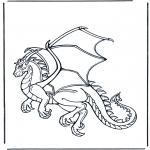 Раскраски с животными - Дракон 1
