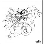 Раскраски с животными - Дракон 3