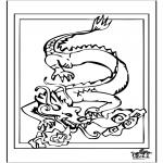 Раскраски с животными - Дракон 4