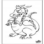 Раскраски с животными - Дракон 6