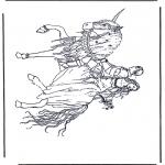 Раскраски с животными - Единорог