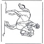 Раскраски с животными - Езда на лошади 3