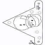 Рукоделие - Флаг - снеговик 2