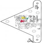 Рождественские раскраски - Флажок Рождество 9