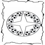 Мандалы - футбольная мандала