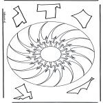 Мандалы - геомандала 10