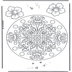 Мандалы - геомандала с цветами