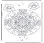 геомандала с цветами