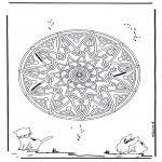 Мандалы - геомандала с животными 2
