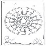 Мандалы - геомандала с животными 4