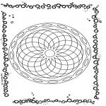 Мандалы - геометрическая мандала 1