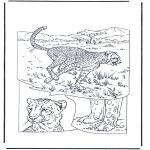 Раскраски с животными - Гепард 1